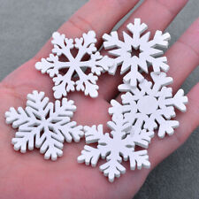 20pcs MINI Wood Snowflakes Hanging Pendant Christmas Tree Ornaments Home Decor