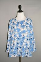 J.CREW $58 Printed Bell-Sleeve Top in Water Floral Small