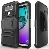 DROP-PROOF HOLSTER CASE HYBRID COVER SWIVEL BELT CLIP J6U for LG V20 Phones