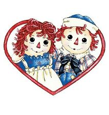 RAGGEDY ANN & ANDY wall stickers 5 prepasted decals ragdoll decor hearts dolls