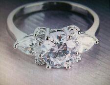 Cluster White Gold Filled Fine Gemstone Rings