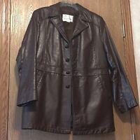 Vintage 70s Or 80s Brown Leather Jacket Gino Leather Size 38 (medium) Euc E1200