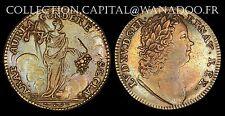 Jeton Louis XV dit Le Bien Aimé Nuremberg Cuivre jaune F13185