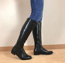 Gr.45 TOP! Exklusiv Sexy Damen Schuhe Kniestiefel Flache Stiefel Männer Boots E2