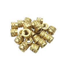 Qty 20 M5 5mm M5 08 Brass Threaded Heat Set Inserts 3d Printing Screws Metal