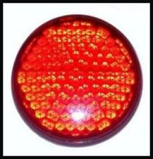 Riflettore Rotondo 2X Rosso Riflettente Rimorchio Per Bicicletta Scooter Camper Auto Posteriore Luce