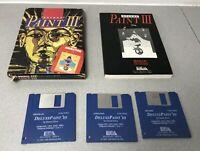 Amiga Deluxe Paint III Complete Set - 3 Disks In Original Box Amiga Deluxe Paint
