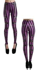 Pamela Mann Esme Waisted Tattoo Leggings Leggins Hose Röhre Goth Wrap #3135 055