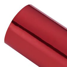 Mirror Chrome Vinyl Car Wrap Red (air/bubble ) 1520mm X 600mm Interior Decal