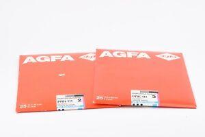"""2X AGFA PORTRIGA-RAPID PRK111 3 & PRN 111 2 8x10"""" GLOSSY DARKROOM PHOTO PAPER"""