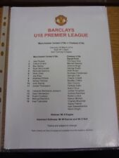 29/03/2014 Manchester United Youth v Chelsea Youth  (single sheet). If this item
