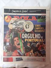 Set of 3 Newspapers PORTUGAL CHAMPIONS EURO2016 O Jogo, Record, A Bola 11/07/16