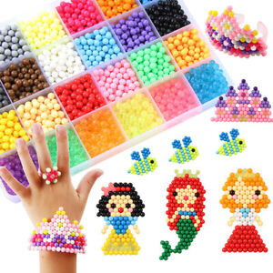 1000-3000X SUPER REFILL DIY Water Fuse Beads 24 SEPARATE Color Kids Gift DIY Toy