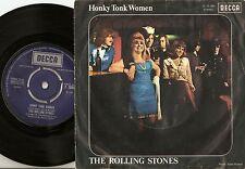 THE ROLLING STONES HONKY TONK WOMEN GERMAN PS+45 1969 FREAKBEAT PROG MOD PSYCH