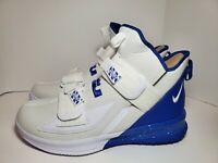 Mens Nike LeBron Soldier XIII TB Promo Bball Shoes White/Royal BQ5553-101 Sz 15