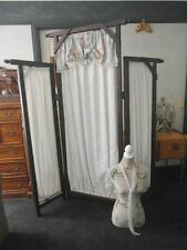 Lovely TIMBER & Fabric COUNTRY Style PRIVACY Screen ROOM Divider QZZQ Adelaide