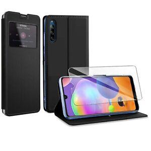 Coque Etui Noir pour Sony Xperia L4 + Verre trempé