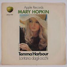 MARY HOPKIN: Temma Harbour USA Apple 1816 Beatles 45 w/ PS VG+