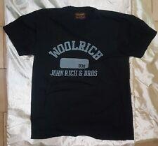 WOOLRICH maglietta t-shirt col BLU scuro dark blu cotone cotton size taglia L