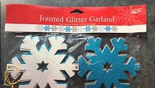 Snowflake Glitter Banner Garland Christmas Party Decorations Bunting