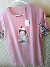 New COACH Ice Cream Sundae T-shirt Pink Top women Crystals Pink Size M, Medium