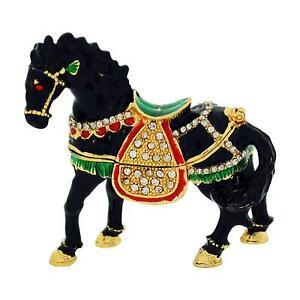 The Olivia Collection Rhinestone Set Trinket/Keepsake Horse + Branded Box
