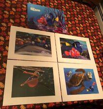 Disney Exclusive FINDING NEMO Lithograph Portfolio Art Print Limited Edition Set