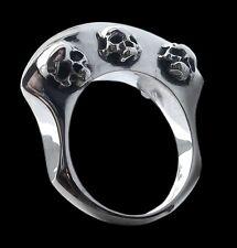 925 Solid Sterling Silver Viking Warriors Axe skulls Ring - Skull ring ALL SIZES