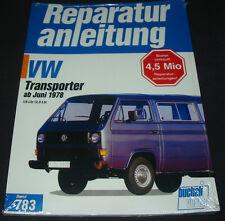 Reparaturanleitung VW Transporter Bulli Bus T 3 1,6 / 2,0 l Motor ab 06/1978 NEU