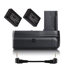 Vertical Battery Grip Holder For Canon EOS 200D Rebel SL2 +2X LP-E17 Battery