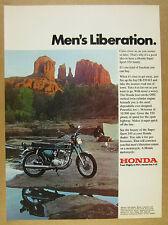 1971 Honda CB-350 K2 Super Sport motorcycle photo vintage print Ad