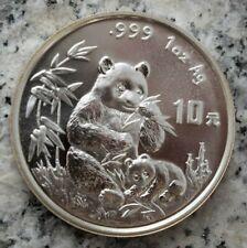 10 Yuan 1996 Silbermünze China - Panda - 1 Oz.999er Silber Erhaltung,selten !