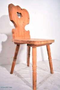 Formschöner Bauernstuhl Brettstuhl Weichholz / Nr. 663 / German Country Chair