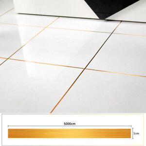 50m Self Adhesive Gap Sealing Foil Tapes Waterproof Tile Wall Floor Seam Sticker