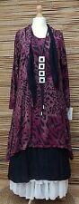 LAGENLOOK COTTON 4 PCS LEOPARD PRINT DRESS+OVERDRESS+2 SCARVES*PINK/BLACK* L-XL