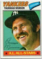 1977 Topps #170 Thurman Munson EX-EXMINT New York Yankees FREE SHIPPING