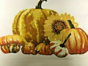 """NEW Pottery Barn Pumpkin Harvest Embroidered Fall Autumn Pillow Cover 20"""" NWT"""