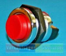 Starterknopf / Taster, Rot, 6 - 12 - 24 Volt ,  12,5 Ampere