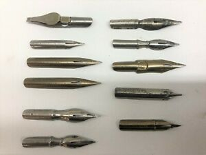 11 Pieces Vintage Fountain pen calligraphy Nibs Esterbrook Hunt Gillots Issac