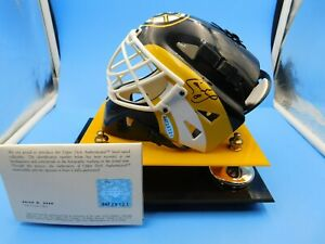 Cam Neely Boston Bruins UD Authentic Autographed Mini Helmet w/ Matching Display