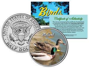 MALLARD *Collectible Birds* JFK Kennedy Half Dollar Colorized US Coin WILD DUCK