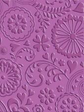 Cricut Cuttlebug Embossing Folder Scrapbook Card Floral Fantasy Sympathy Amish