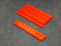 Lego Plate 2x10 [3832] Red x6