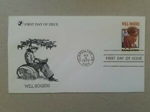 US 1979 Will Rogers FDC , Claremore OK