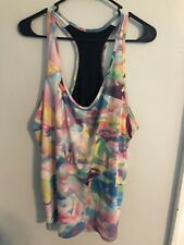 Womens Lucy Large Athletic Tank Top Multicolor