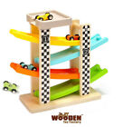 The Wooden Toy Factory - Click Clack Racing Track with *4* Cars NEW(Damaged Box)
