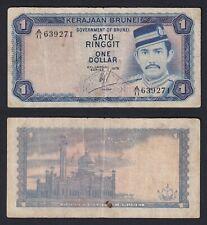 New listing Brunei - 1 Ringgit On 1 Dollar 1976 Bb / Vf C-08