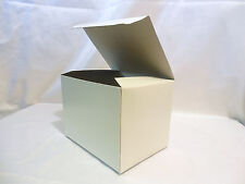 "25 boxes 6x4.5x4.5"" Gift Retail Shipping Packaging White lightweight cardboard"