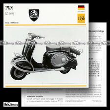 #072.16 Scooter TWN 125 TESSY & TESSY SUPER 1956 Fiche Moto Motorcycle Card