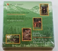 1996 Canada Little Wild Ones 50 Cent 4 Coin Set- .925 Silver- Sealed